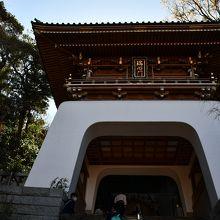 江島神社の門