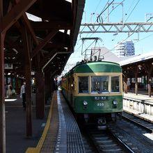 江ノ電、江ノ島駅、風情があります