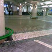 広島駅南口地下広場は雨天によさそう