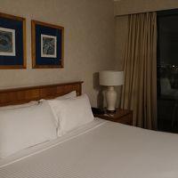 寝室にはベランダも付いていて、朝にはボタニ―湾の景色がきれい