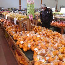柑橘類はデコポンの袋詰めがいっぱい