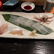 函館直送の活イカが人気の居酒屋です