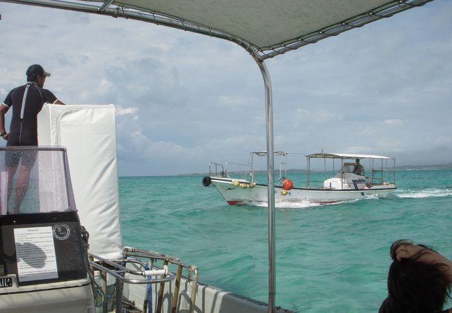 浜島は小浜島と石垣島の間にあり、満潮には海に沈んでしまい、干潮時には200m位の大きさになる小さな島です。