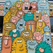 2月にアートが描き直されたばかりのカカアコエリア おなじみのモンスターたちも
