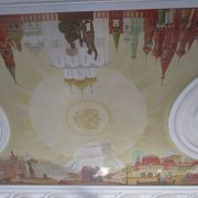 ウラジオストック駅の天井画