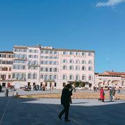 駅に近い教会の前 「サンタ マリア ノヴェッラ広場」 イタリア フィレンツェ