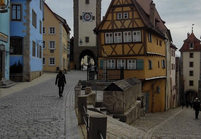 典型的なローテンブルグの景色