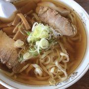 あっさりスープにちぢれ麺が最高