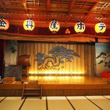 宴会場の舞台