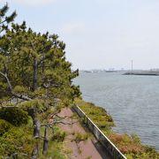 運河を挟んだ目の前が羽田空港の駐機場のため飛行機マニアには人気の公園