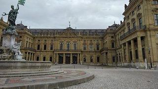 ヴュルツブルク司教館、その庭園群と広場