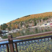 湖の周辺には見どころがたくさん