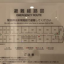 フロア図ですが、エレベーター横の部屋は少し煩いんだと思います