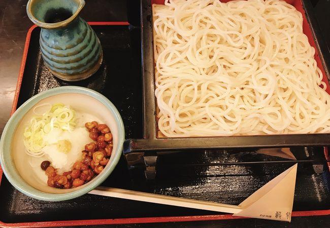 並粉も美味しい 「蕎麦・料理 籔半」 小樽 稲穂