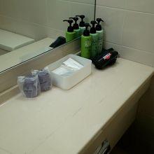 スタンダードなバスルームでアメニティは揃ってます