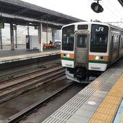 栃木県 小山駅ーー 群馬県 高崎駅 までの、 JR路線。