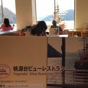 目の前に海賊船眺めながら「桃源台ビューレストラン」~箱根~