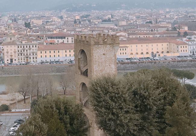 アルノ川の南側 「サン ニッコロ門」 イタリア フィレンツ