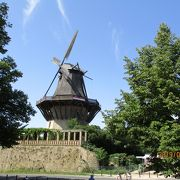 サンスーシ宮殿近くの風車
