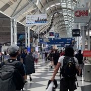 シカゴ オヘア空港でのトランジット