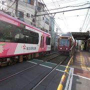 東京都で唯一残っていると路線です。