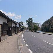 松江の市内を散策する