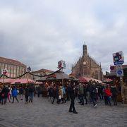 クリスマスマーケットの中心地