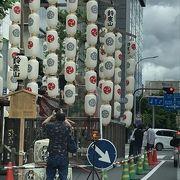京都の夏の風物詩です、たくさんの山鉾がでていて、見てみるだけでも楽しいですし、中に入ることもできました。