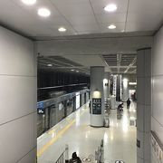 2018年11月。ターミナル1と、2駅もできた。