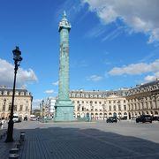 ナポレオンの戦勝記念塔のある広場