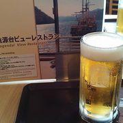 芦ノ湖を眺めながら