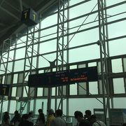 国内線、国際線のターミナルは分離されている。