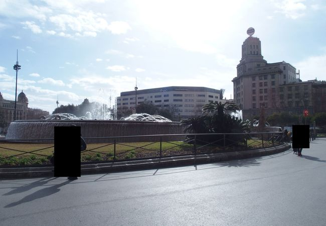 バルセロナの中心部