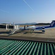 長崎空港の離発着する飛行機が見れます