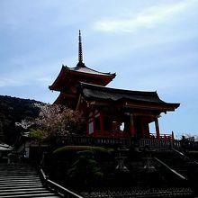 仁王門と三重塔