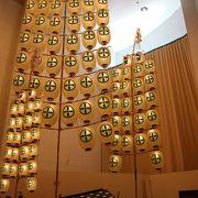 実物の竿燈を観ることが出来ます。