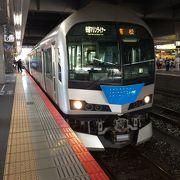 各方面から列車が来るターミナル駅