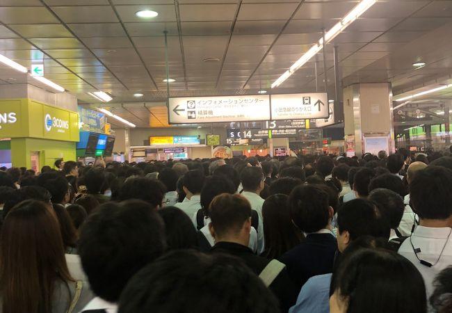 台風の時は大混雑