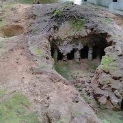 瀬戸山中にある窯跡