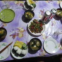宿泊初日にサービスで作ってくれた夕食。