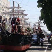 吹奏楽パレードと仮装パレード