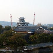 熊本城を上から眺める。