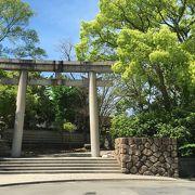 空間が広い神社
