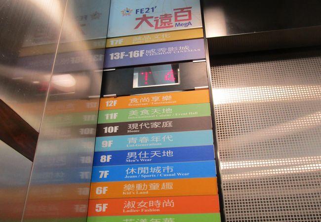 駅直結のデパート