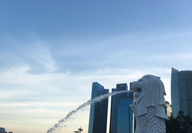 シンガポールのシンボル、マーライオンがいる公園