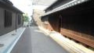 摂津富田の古い町並み