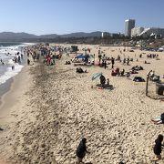 砂浜がとても広い!