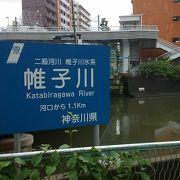 横浜駅前を流れる川