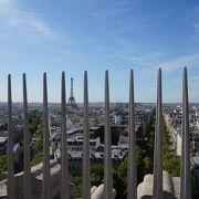 パリの街が一望できます