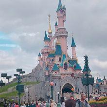 ピンクのお城が可愛い